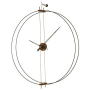 Spain Minimalist Walnut Wall Clocks Nordic Living Room Large Double Hoop Wall Clock Home Decor