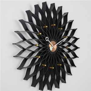 Sunflower Premium Maple Aluminum Hands Wall Clock Bedroom Living Room Decor Wall Clocks