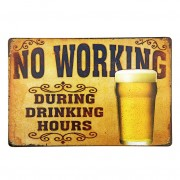 Retro Cafe Bar Pub Beer Club Wall Decor Posters Tin Metal Beer Signs