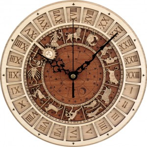 Venice Astronomical Wooden Clock Creative Living Room Quartz Clock Twelve Constellation Wall Clocks