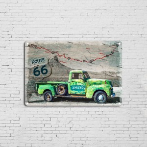 Wholesale Wall Decor Automotive Metal Car Parking Tin Signs