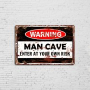Custom Wholesale Vintage Beware of Danger Metal Tin Plaques Poster Signs