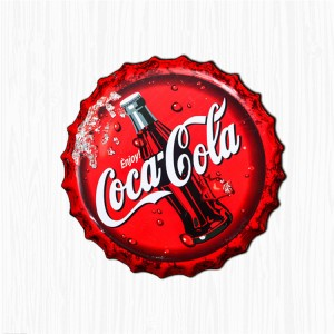 Custom Wholesale Vintage Cola Bottle Cap Metal Tin Plaques Poster Signs