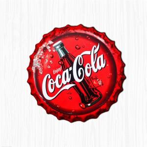 Custom Wholesale Vintage Cola Bottle Cap Metal Tin Plaques Poster Signs
