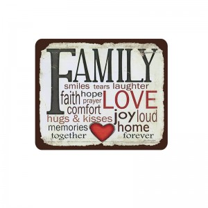 "Home Room Wall Decoration Art 12""x12"" Vintage Metal Family Coffee Tin Signs"