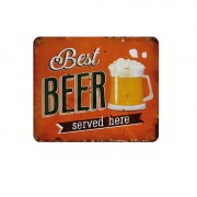 Custom Wholesale Square Vintage Beer Metal Tin Plaques Poster Signs