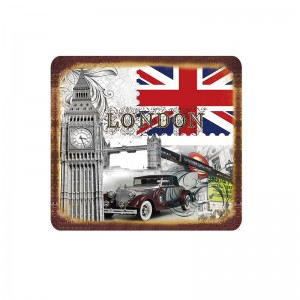 Retro Metal London Big Ben UK Tin Sign Art Plate Plaque Home Wall Decor