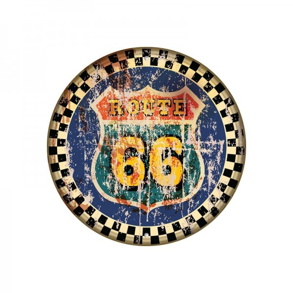 Wholesale Personalized Route 66 Gas Round Metal Sign Tin Poster Plaque