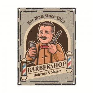 Metal Signs Barber Shop Tin Decorative Custom Large Size Vintage Plaque