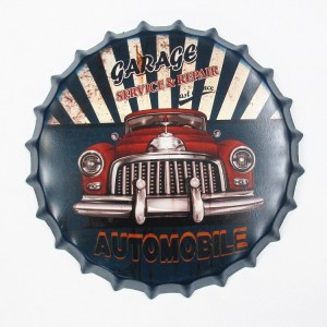 American Retro Antique Advertising Art Brand Bottle Top Metal Signs Poster