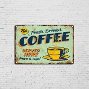 High Quality Metal Signs Home Decorative Vintage Retro Metal Print Posters