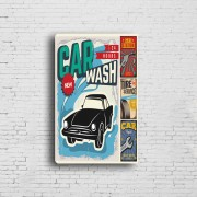 Car Wash and Service Shop Decor Vintage Metal Plate Printing Tin Sign Poster