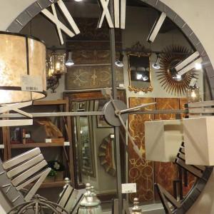 Home Decoration Oversized Modern Round Glass Wall Mirror Clock