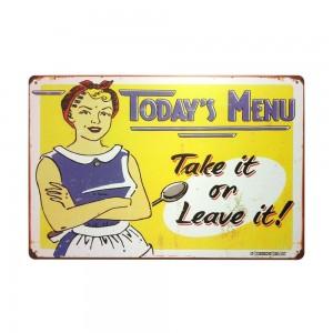 Retro Metal Tin Signs Wholesale Art Wall Decoration House Cafe Bar Vintage Plaque