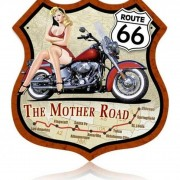 Vintage Bar Decor Road Motorcycle Signs Shield Custom Sign