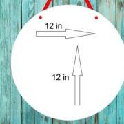 Ponerine Rustic Wood Plank Design Hanging Sign for Home Decoration