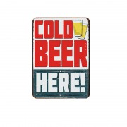 Ponerine Beer Sign Retro Handmade OEM Logo Printing Custom Vintage Tin Metal Sign