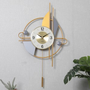 Large Vintage Metal Wall Clock Modern Design Hanging Watches Classic Brief European Wall Clock