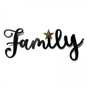 Family Iron Letters Wall Room Decoration Pendant Wall Hanging Metal Signs