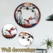 Pastoral Wall Hanging Laser Cutting Metal Signs Animal Home Wall Decor