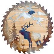 Metal Wall Art Sign Deer Animal Decorative Wall hanging for Rustic Home Garage
