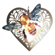 Metal Wall Art Sign Bee Animal Decorative Wall hanging for Rustic Home Garage