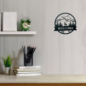 Outdoor Custom Monogram Familly Welcome Signs Metal Wall Decor House Warming Gift