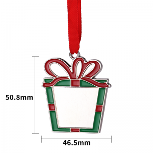 Christmas Party Decoration DIY Sublimation Metal Christmas Tree Ornament