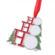 Christmas Party Decorations Supplies Metal Craft Christmas Tree Ornaments