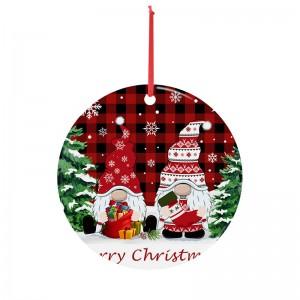 Popular Amazon Hot Sales Santa Claus Vaccine Virus Syringe One Head Resin Christmas Hanging Ornament
